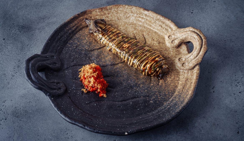 Баклажан гриль с чатни из копчёной паприки