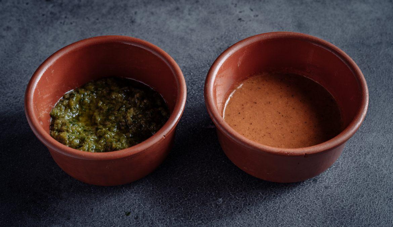 Сальса из зеленых перцев / из томатов гриль